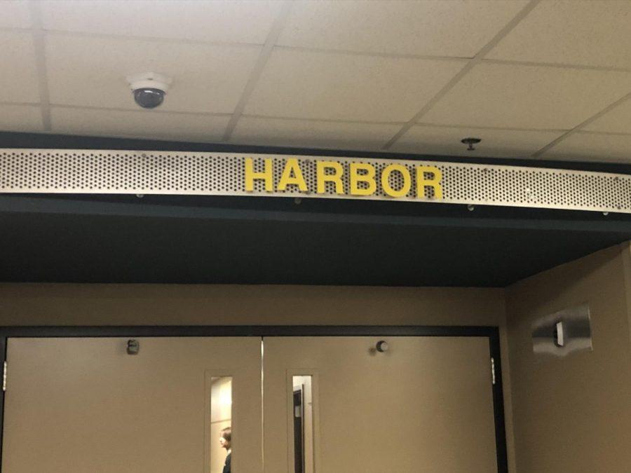 The Harbor is the Southeast Polk High School alternative school.  Students attending it enter through this door each day.  Alyssa Williams photo.