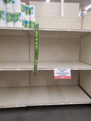 Many popular products are selling out at grocery stores. Maddy Streepy photo.