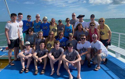 The Stewarts, Macks, Allisons, Olesens, Hartz, Newtons, Stiles and Vorwerks in Key West, Florida over Spring Break on an excursion. Photo courtesy Meredith Vorwerk.