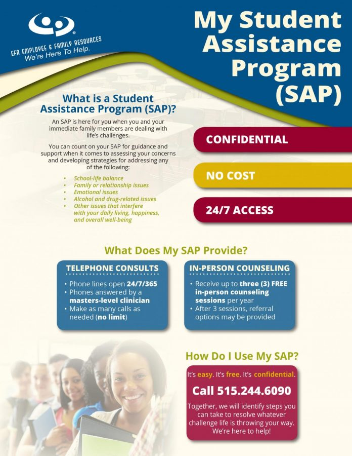 Student Assistance Program information courtesy southeastpolk.org.