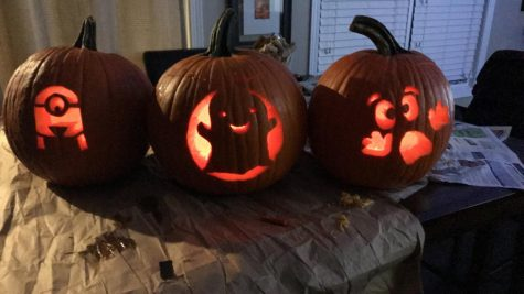 Social distance and carve pumpkins with friends this fall.