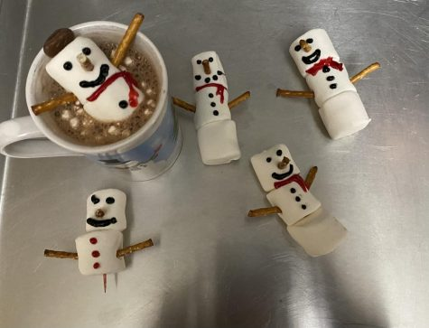 Make some hot chocolate and create a chocolate hot tub for your snowmen! Enjoy!